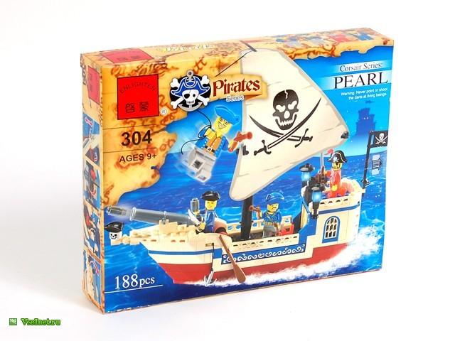 Конструктор 304-C304A Пиратский корабль (188 дет) (640x480, 81Kb)