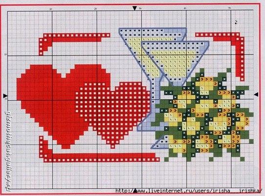 Схемы Для Вышивания Крестом Ко Дню Святого Валентина