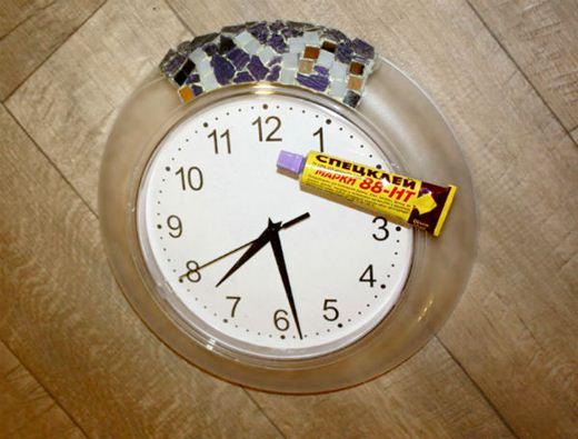 Мозаичные часы. Как сделать красивую рамку для настенных часов