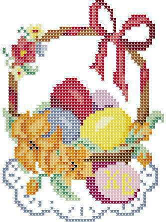 Схемы вышивки крестом пасха .  Кройка, шитье, вязание - способы и приемы.