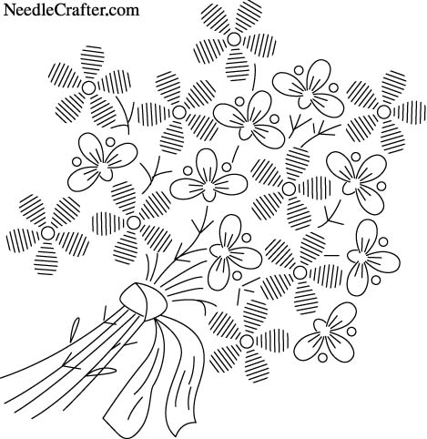Мотивы для вышивки(цветы) .