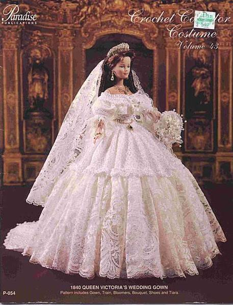 Шитые свадебные платья для барби