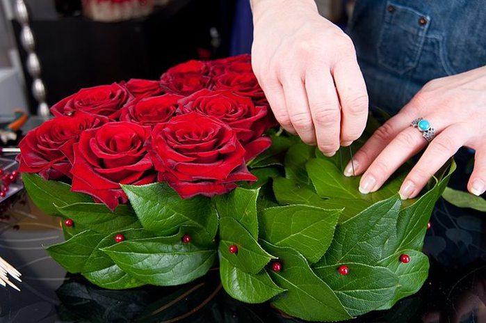 Как сделать сердце из роз своими руками пошаговое фото 52