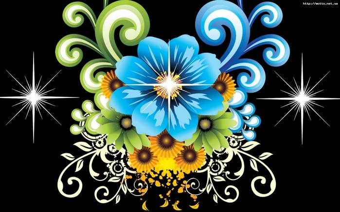 """Предпросмотр - Схема вышивки  """"Цветочный узор """" - Схемы автора  """"irenidanna """" - Вышивка крестом."""