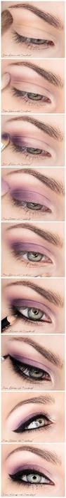 вечерний макияж глаз пошаговое фото
