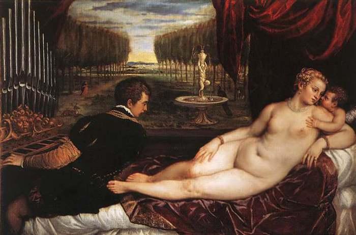 Тициан, Венера с органистом и купидоном (2) (700x461, 41Kb)