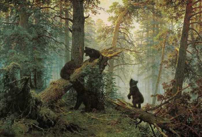 Шишкин, Утро в сосновом лесу (2) (700x474, 48Kb)