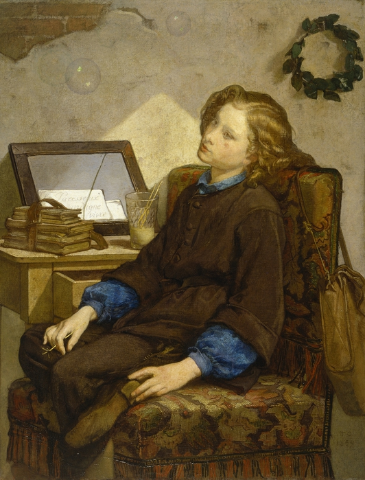Daydreams (1859). Thomas Couture (1815–1879). (532x700, 310Kb)