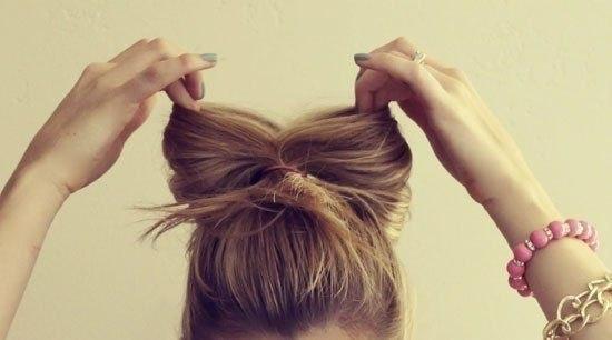 Прическа для длинных волос.