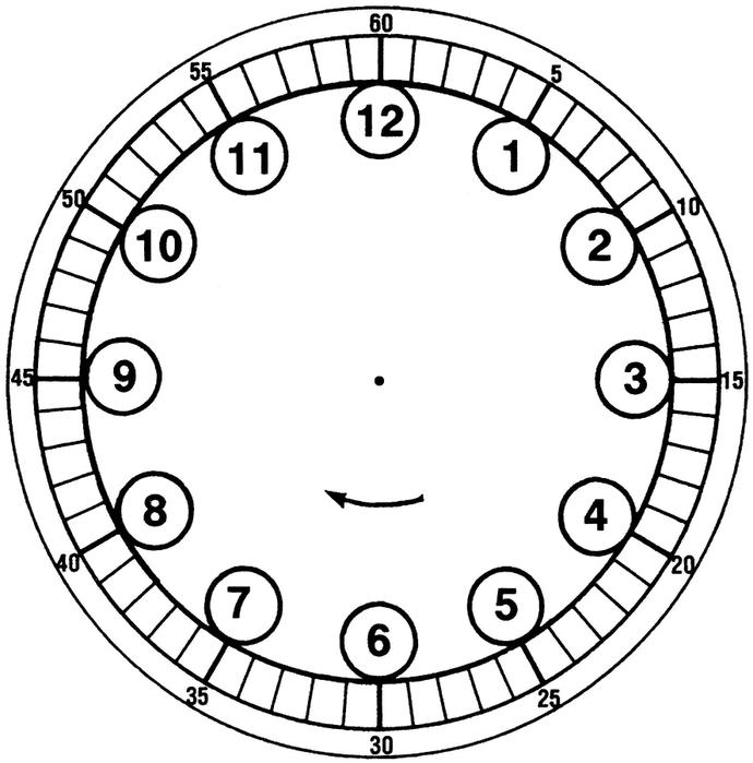 Как нарисовать циферблат для часов