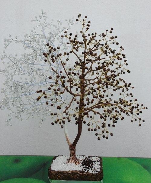 Дерево из бисера Шоколадница.