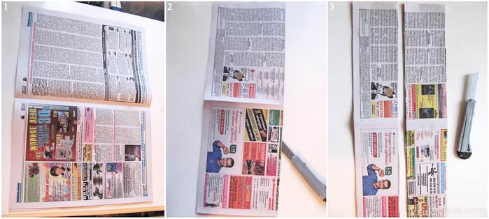 Шкатулки из газет схемы