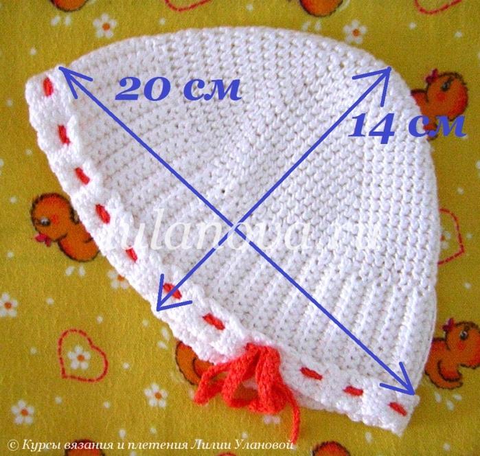 Размеры для вязания детских шапок крючком 23