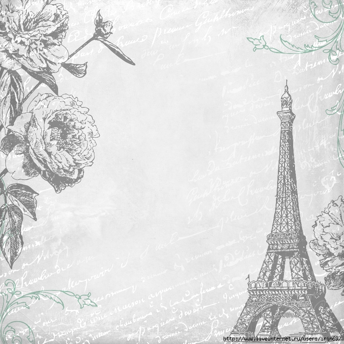 Free-Digital-Scrapbooking-Paper-Paris-4-by-FPTFY (700x700, 338Kb)