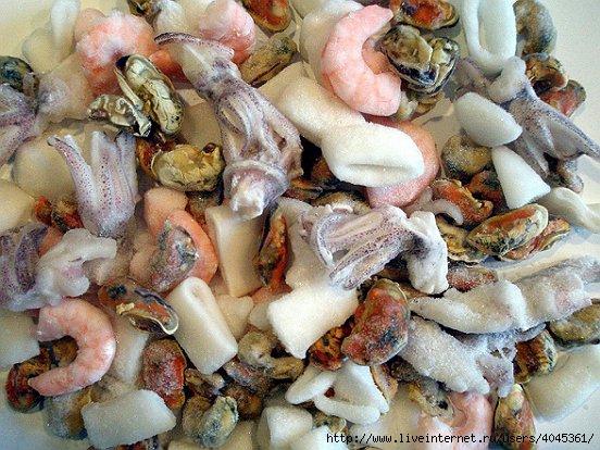 что можно приготовить из замороженного морского коктейля рецепты