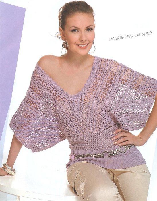 Для вязания этой модели блузы