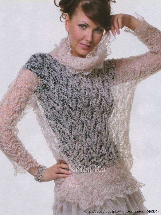 Пуловер из кид мохера доставка