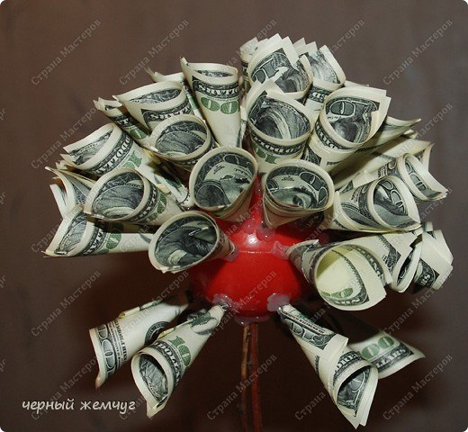 Топиарий своими руками пошаговое фото из денег