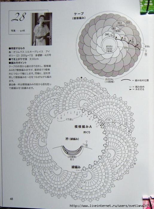 美妙的扇形钩针披肩(详细图解)