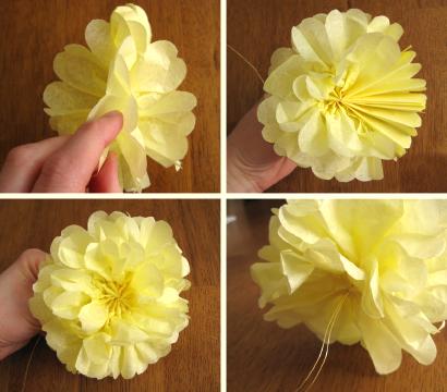 Сделать цветок из салфеток своими руками