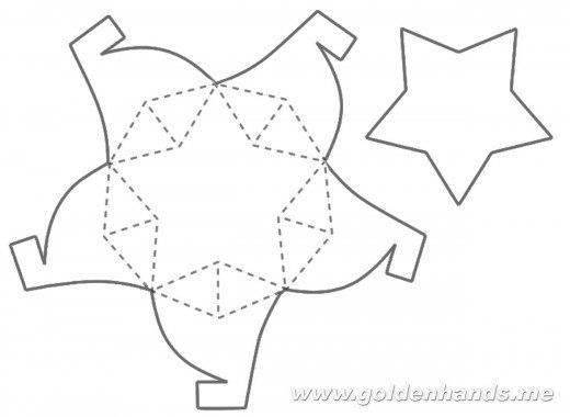 Звезда своими руками из бумаги шаблоны