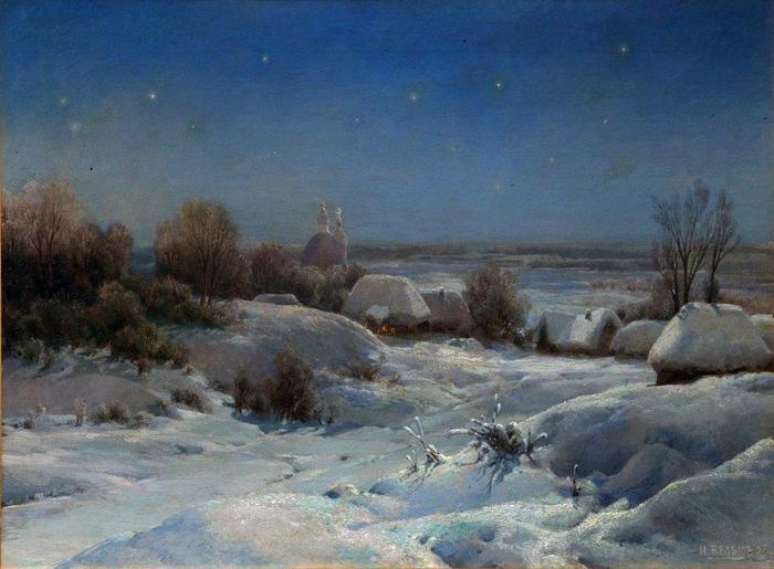 Украинская ночь. Зима 1898 (700x515, 51Kb)