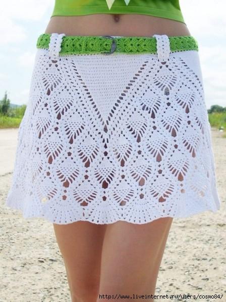 Вязаные летние юбки со схемой