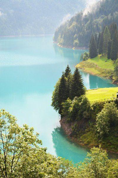 Озеро Sauris, Фриули, Италия. (400x604, 54Kb)