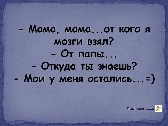 Анекдот Мать