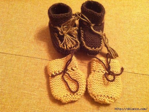 Вязание для самых маленьких пинетки