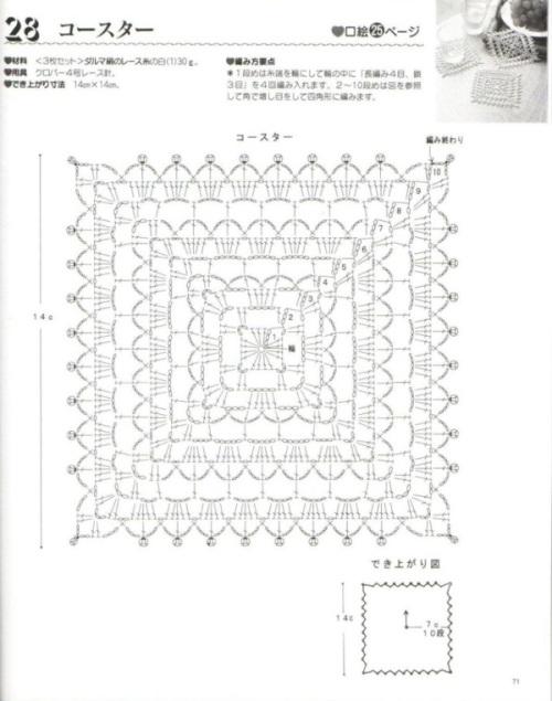 Процитировано. в цитатник. салфетки крючок. журнал по вязанию. японский журнал по вязанию.