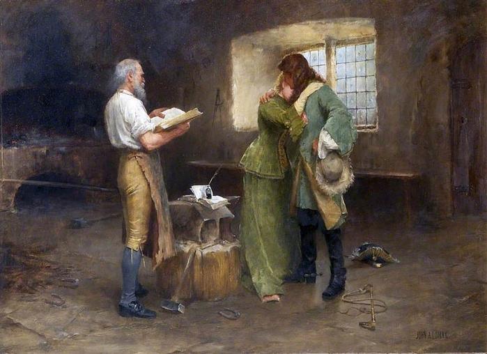 John Arthur Lomax (British, 1857-1923)Gretna Green 1 (700x508, 277Kb)