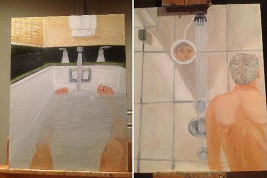 Хакер выложил портрет Буша в ванной Фотографии