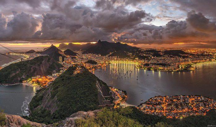 Вечер в Рио-де-Жанейро, Бразилия (700x410, 72Kb)