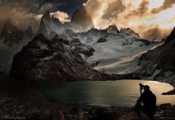 Гора Фитц Рой в Лаго-де-Лос-Трес, Южная Аргентина (604x414, 47Kb)