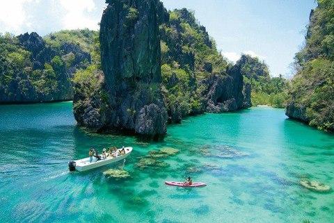 Лагуна острова Эль-Нидо, Филиппины (480x321, 50Kb)