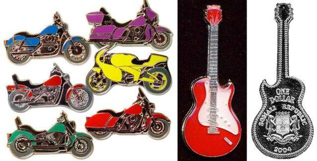 деньги ится и другими необычными монетами в форме машин, гитар (639x325, 52Kb)