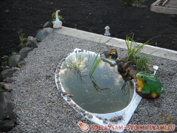 Бассейн из ванной своими руками фото