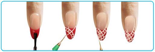 Дизайн сетка на ногтях гель лаком