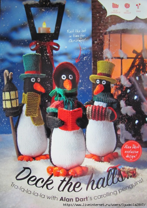 Caroling Penguins (494x700