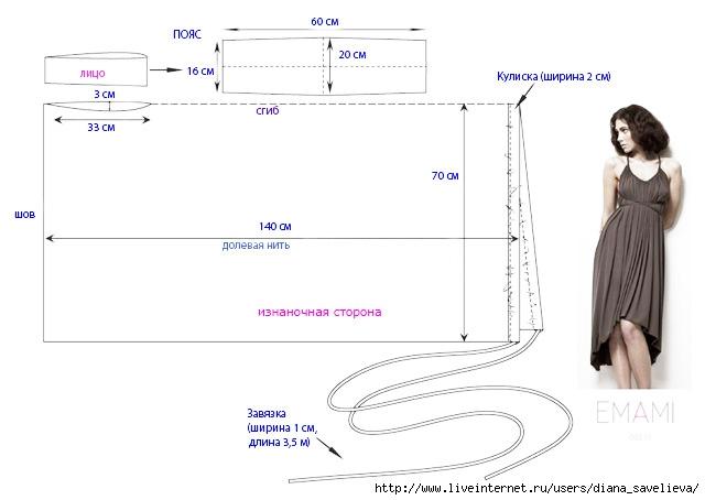 Как сшить платье-трансформер выкройка 55