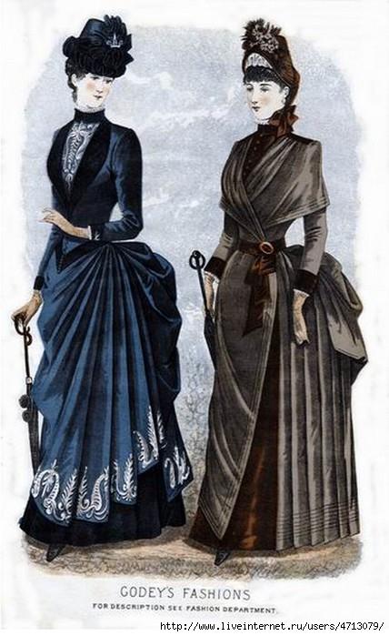 Женское платье 1870 годов