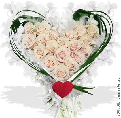 Как сделать из живых цветов сердце - Оазис