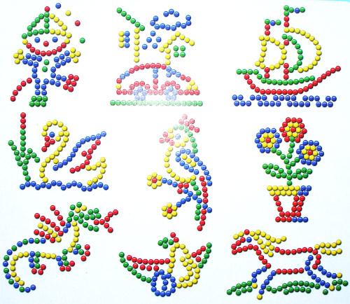 Мозаика детская картинки и схемы простые