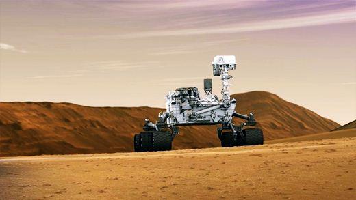 Марсоход Curiosity пробурил Красную планету. Фотографии