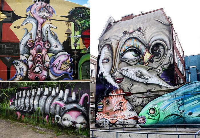 У развалин есть лица. Граффити, которое оживляет руины. Обсуждение ...