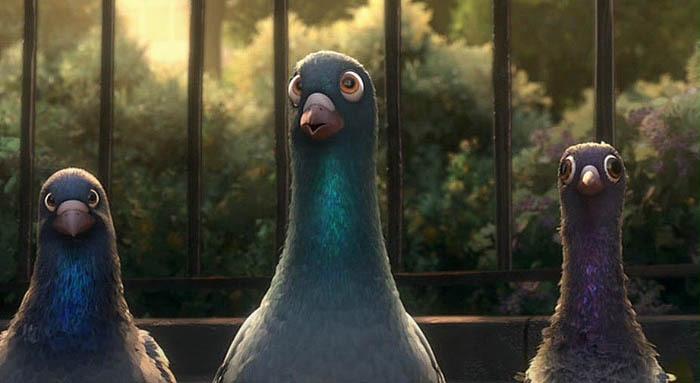 Голубь голуби из мультфильма Вольт три голубя тупые обычные сизые голуби (700x383, 47Kb)