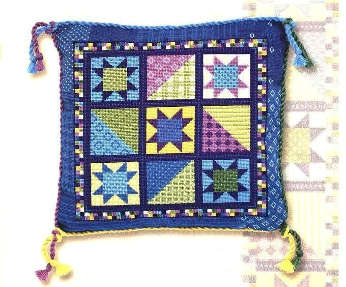 Вышивка крестом, схема подушки