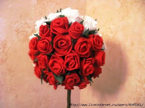 Поделки из цветов розы