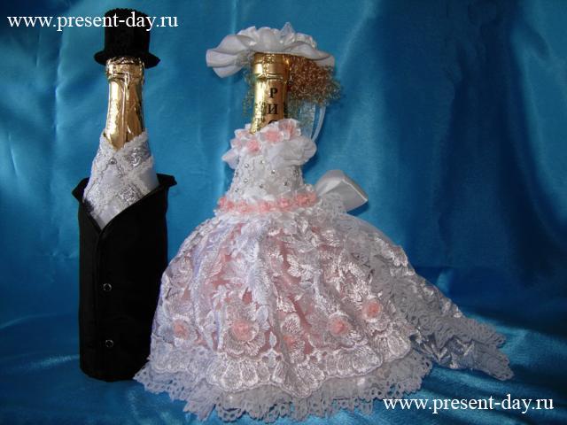 Бутылки лентами своими руками